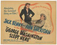 7s070 GEORGE WASHINGTON SLEPT HERE TC '42 sexy Ann Sheridan looks at Jack Benny the great lover!