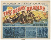 7s075 GLORY BRIGADE TC '53 cool artwork of Victor Mature & soldiers in Korean War!