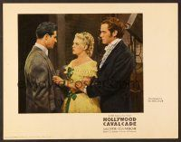 7s006 HOLLYWOOD CAVALCADE photolobby '39 pretty Alice Faye between Don Ameche & Alan Curtis!
