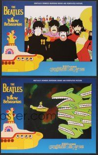 7s007 YELLOW SUBMARINE 8 LCs R99 wonderful psychedelic art of Beatles John, Paul, Ringo & George!