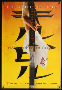 7x380 KILL BILL: VOL. 1 foil teaser 1sh '03 Quentin Tarantino, Uma Thurman, cool katana image!