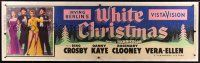 8f001 WHITE CHRISTMAS linen paper banner '54 Bing Crosby, Danny Kaye, Clooney, Vera-Ellen, classic!