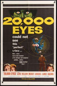 8e003 20,000 EYES 1sh '61 Gene Nelson, Merry Anders could not see the perfect crime!