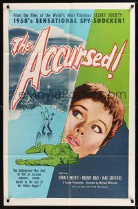 8e014 ACCURSED 1sh '58 from the files of the world's most fabulous secret society!