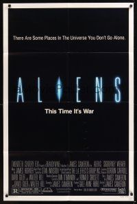 8e023 ALIENS 1sh '86 James Cameron, there are some places in the universe you don't go alone!