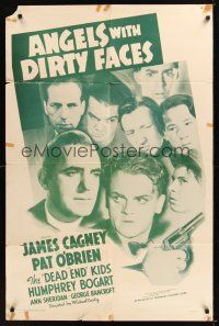 8e032 ANGELS WITH DIRTY FACES 1sh R56 James Cagney, Pat O'Brien & Dead End Kids classic!