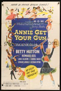 8e035 ANNIE GET YOUR GUN 1sh '50 Betty Hutton as the greatest sharpshooter, Howard Keel!