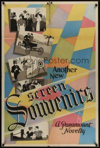8e037 ANOTHER NEW SCREEN SOUVENIRS 1sh '32 A Paramount Novelty, cool design!