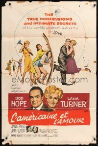8e052 BACHELOR IN PARADISE 1sh '61 world's greatest lover Bob Hope romances sexy Lana Turner!
