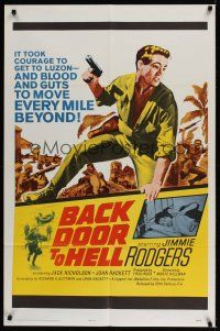 8e053 BACK DOOR TO HELL 1sh '64 it took courage to get to Luzon, blood & guts to go beyond!