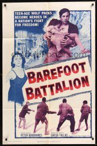 8e060 BAREFOOT BATTALION 1sh '56 teen-age wolf packs become heroes in a fight for freedom!