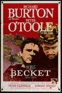 8e070 BECKET 1sh '64 Richard Burton in the title role, Peter O'Toole!