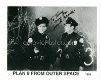 8h049 CONRAD BROOKS signed 8x10 REPRO still '80s in cop uniform from Plan 9 From Outer Space!