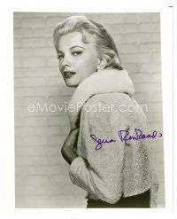 8h055 GENA ROWLANDS signed 8x10 REPRO still '80s great waist-high portrait wearing fur coat!