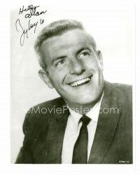 8h064 JERRY VAN DYKE signed 8x10 REPRO still '80s great head & shoulders portrait smiling big!