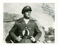 8h072 KIRK ALYN signed 8x10 REPRO still '80s close portrait in costume as Blackhawk!