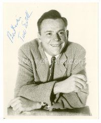 8h089 TOM EWELL signed 8x10 REPRO still '80s close up smiling portrait smiling really big!
