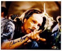 8h048 CHRIS COOPER signed color 8x10 REPRO still '03 close up of the star from Adaptation!