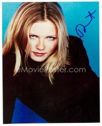 8h073 KIRSTEN DUNST signed color 8x10 REPRO still '02 head & shoulders portrait of the sexy star!