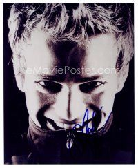 8h057 HAYDEN CHRISTENSEN signed 8x10 REPRO still '00s great creepy super close up of the star!