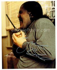 8h059 JACK BLACK signed color 8x10 REPRO still '04 great wacky close up dresed as a burglar!