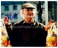 8h065 JIM BROADBENT signed color 8x10 REPRO still '02 great close up of the English actor!