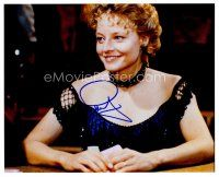 8h067 JODIE FOSTER signed color 8x10 REPRO still '02 close portrait playing poker from Maverick!