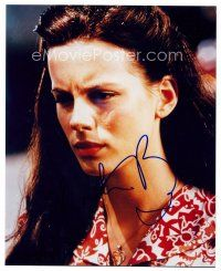 8h070 KATE BECKINSALE signed color 8x10 REPRO still '02 close up of the pretty English actress!