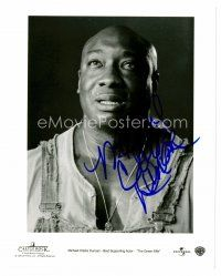 8h079 MICHAEL CLARKE DUNCAN signed 8x10 REPRO still '00 great close up from The Green Mile!