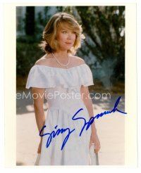 8h084 SISSY SPACEK signed color 8x10 REPRO still '80s full-length portrait of the pretty star!