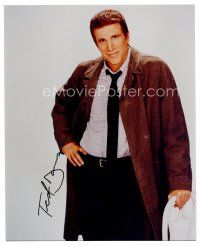 8h087 TED DANSON signed color 8x10 REPRO still '00s full-length portrait his hand on his hip!