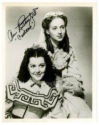 8s051 ANN RUTHERFORD signed 8x10 REPRO still '80s portrait as Carreen from Gone with the Wind!