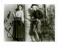 8s069 JOAN LESLIE signed 8x10 REPRO still '80s hiding from sexy cowgirl, Woman They Almost Lynched!