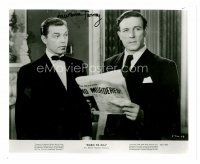 8s077 LAWRENCE TIERNEY signed 8x10 REPRO still '80s close up reading newspaper from Born to Kill!