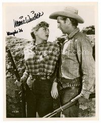 8s079 MARIE WINDSOR signed 8x10 REPRO still '86 close up as a cowgirl holding a rifle!