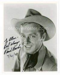 8s087 RAND BROOKS signed 8x10 REPRO still '78 head & shoulders portrait in cowboy costume!