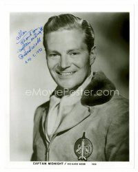 8s088 RICHARD WEBB signed 8x10 REPRO still '83 great smiling portrait as Captain Midnight!