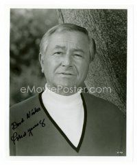 8s090 ROBERT YOUNG signed 8x10 REPRO still '80s head & shoulders portrait late in his career!