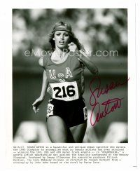 8s092 SUSAN ANTON signed 8x10 REPRO still '80s c/u as a beautiful Olympic runner in Goldengirl!
