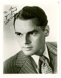 8s095 WALTER REED signed 8x10 REPRO still '80s head & shoulders portrait wearing suit & tie!