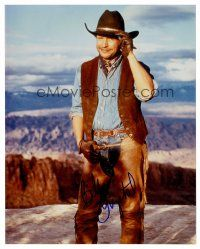 8s053 BILLY CRYSTAL signed color 8x10 REPRO still '02 full-length portrait from City Slickers!
