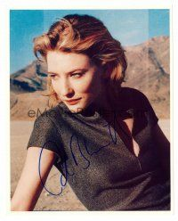 8s058 CATE BLANCHETT signed color 8x10 REPRO still '00s close up of the pretty star in the desert!