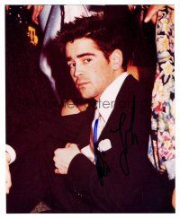 8s059 COLIN FARRELL signed color 8x10 REPRO still '02 close up of the Irish actor in tuxedo!