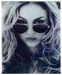 8s061 DREA DE MATTEO signed color 8x10 REPRO still '00s super close up wearing aviator sunglasses!