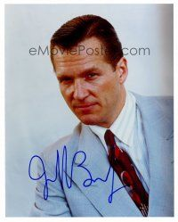 8s068 JEFF BRIDGES signed color 8x10 REPRO still '00s great young portrait with short hair!