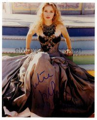 8s071 JULIE DELPY signed color 8x10 REPRO still '00s the French actress wearing really cool dress!