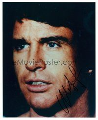 8s096 WARREN BEATTY signed color 8x10 REPRO still '02 young super c/u from Heaven Can Wait!
