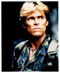 8s097 WILLEM DAFOE signed color 8x10 REPRO still '02 portrait wearing camo from Clear & Present Danger!