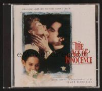 8s103 AGE OF INNOCENCE soundtrack CD '93 Martin Scorsese, original score by Elmer Bernstein!