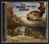 8s106 AGONY & THE ECSTASY soundtrack CD '98 by North, Goldsmith & Royal Scottish National Orchestra